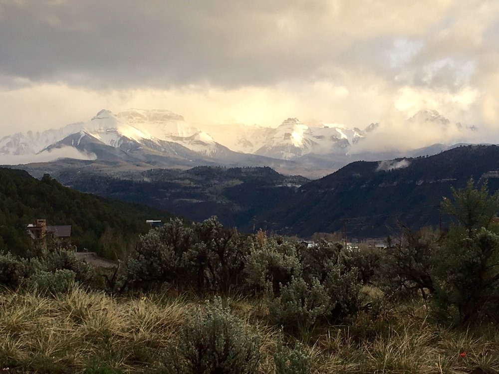 The view from the porch of one of our cleaning clients, back in January…