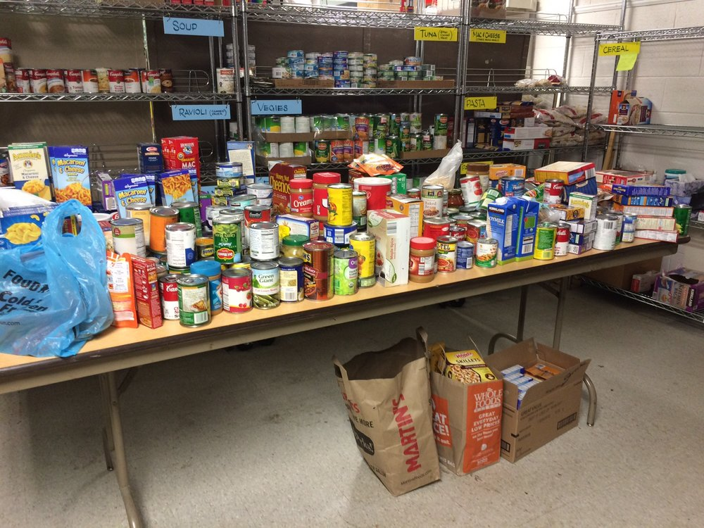 The Food Pantry is stocked for at least another week!!  Many thanks for your contributions!