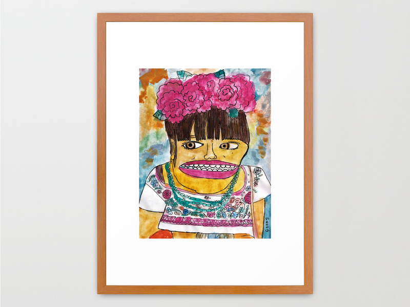 goons frida kahlo portrait