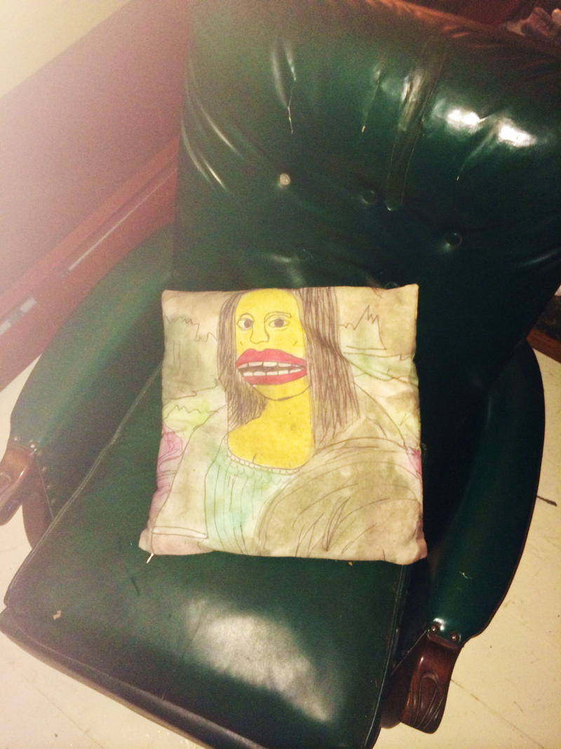 Goona Lisa Pillow