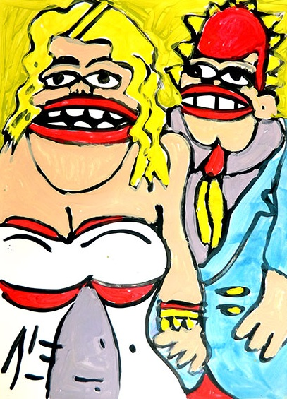 """Title: Judd Apatow, Leslie Mann Size: 18"""" x 24.25"""" Date: 2013. Buy it here: http://goo.gl/tfNT41"""