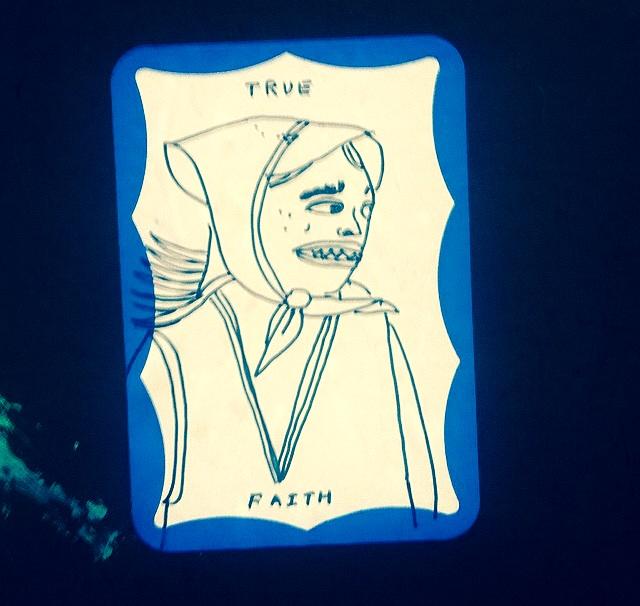 Name badge sticker.