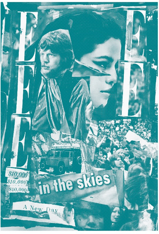 Mick Jagger & Selena Gomez, Teal risograph. 2015.
