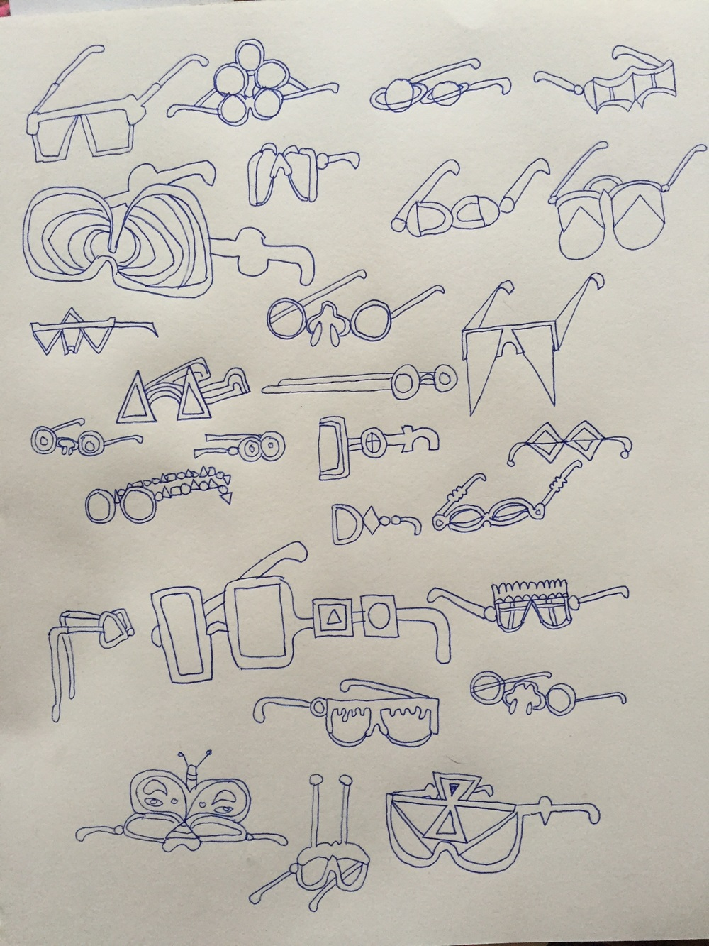 Sunglass Ideas Sketch.