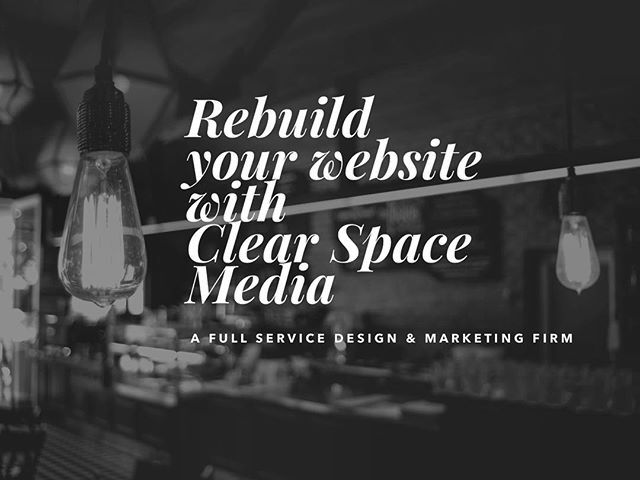 Rebuild your website with Clear Space Media 🔭 A full service design and marketing firm. See how we do things differently. https://clearspace.media . . . . #smallbusiness #startups #sales #entrepreneurs #ecommerce #marketing #branding