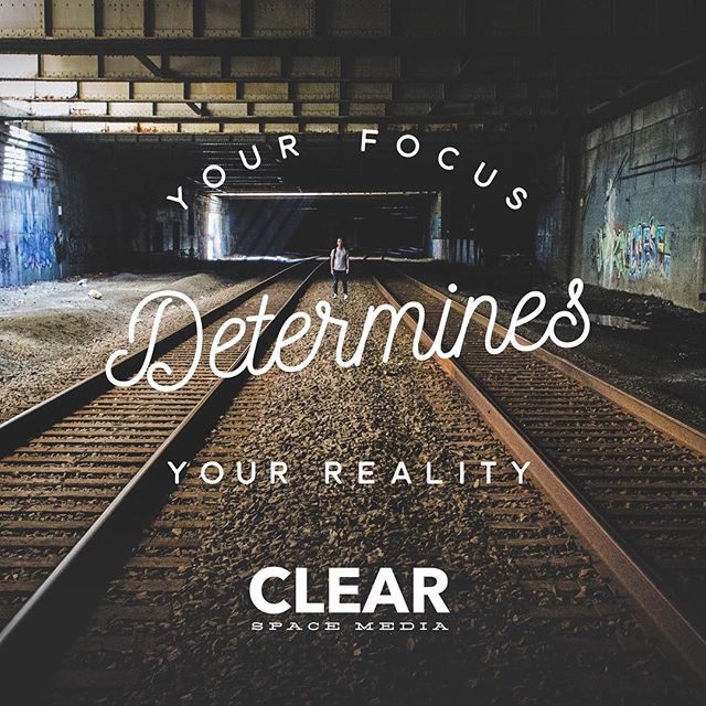 Your focus determines your reality. See how we can take your brand to the next level. https://clearspace.media . . . . #smallbusiness #startups #sales #entrepreneurs #ecommerce #marketing #branding #videoproduction