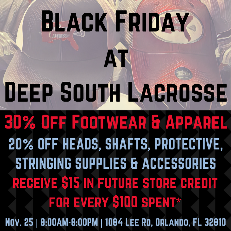 ... Lacrosse Are Thankful For Your Continued Support As We Enter Our Third  Year In The Orlando Area And Sixth Year In Florida. This Black Friday, We  Hope To ...
