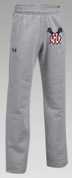 801b01200 Under Armour Women's Hustle Fleece Pant - Grey - Sticks Logo — Deep ...