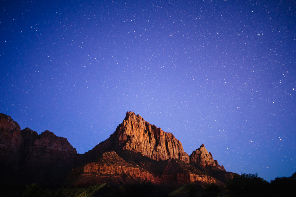 The Watchman at Night, Zion National Park