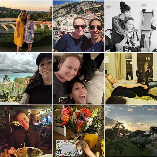 Topninetopninetopnine. 2019 is bound to look about the same with a speckle more of #love love #marriage 🇬🇩👰