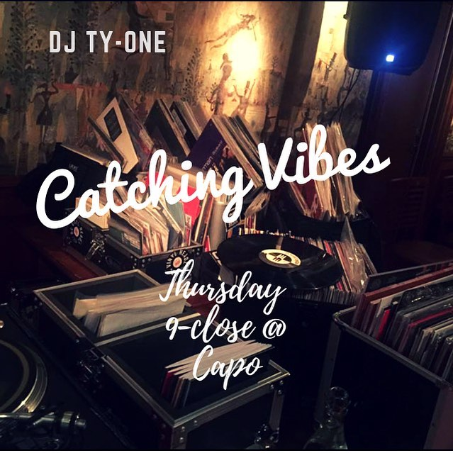 @djty_one will be rocking the 1s and 2s Thursday night for Catching Vibes at @whatiscapo. I may make an appearance as well! #catchingvibesdc #djtyone #straysolo #findgoodvibes