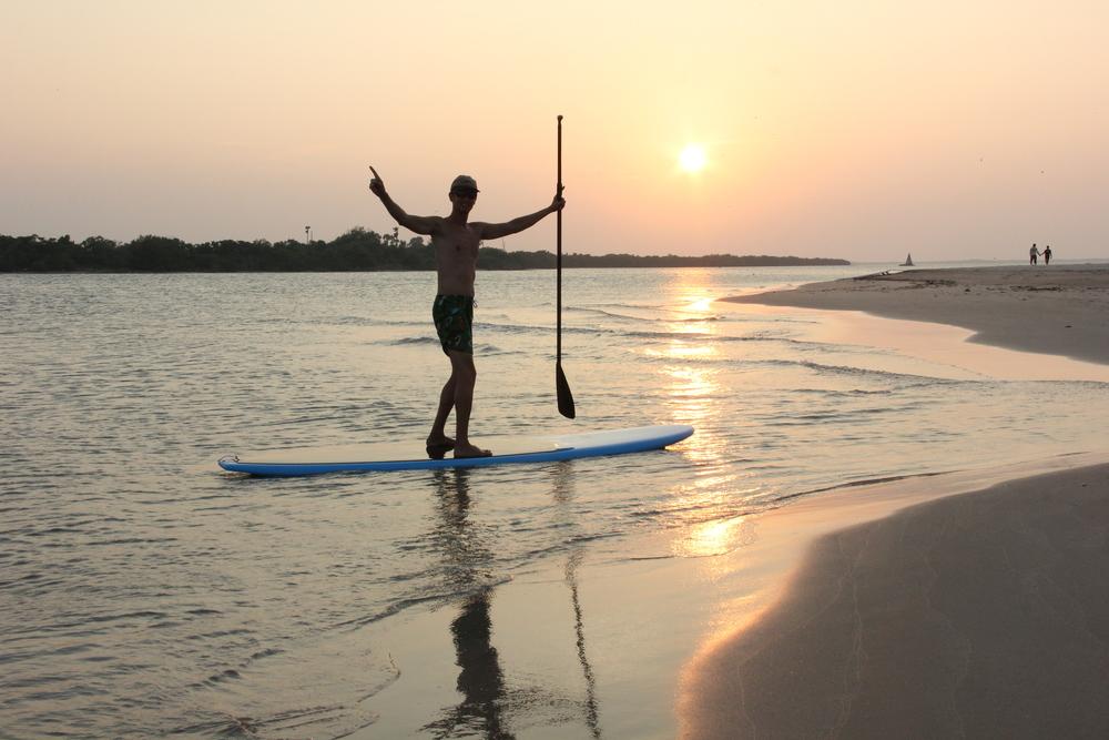 Sunset SUP trip near Kundukal beach near Pamban in Rameshwaram Island- Tamil Nadu