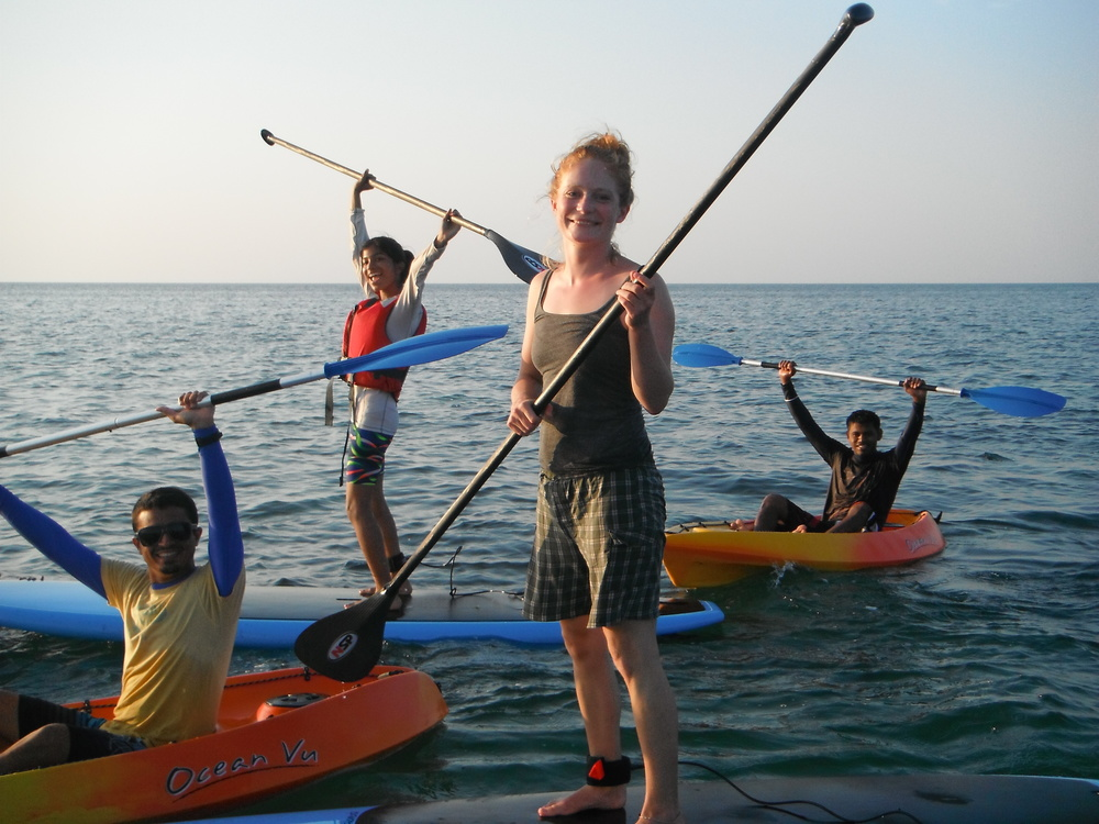 Stand Up Paddle board trips in Rameshwaram Island- Tamil Nadu