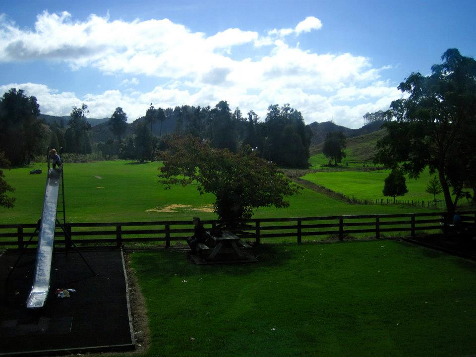 Little park in the tiny town of Waitomo. The outdoors all looks like fields from Lord of the Rings