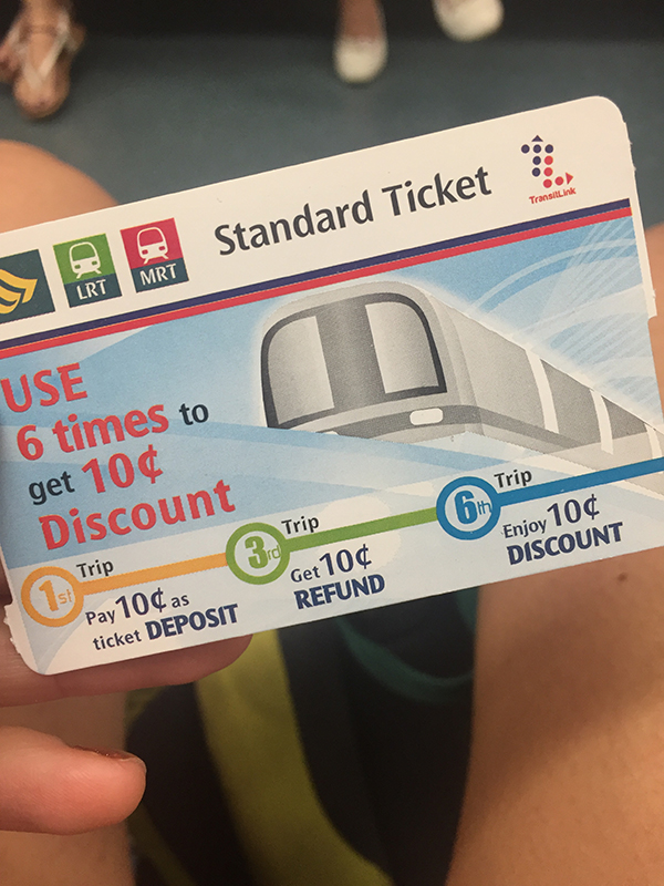 The train card