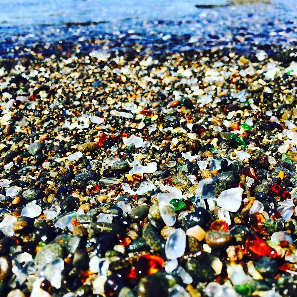 Aptly named Glass Beach.