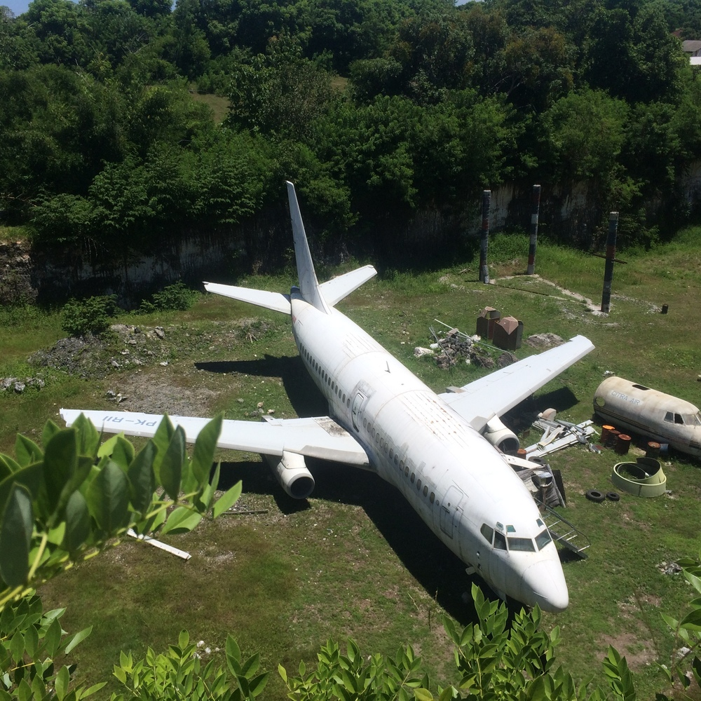 Abandoned aircraft site.