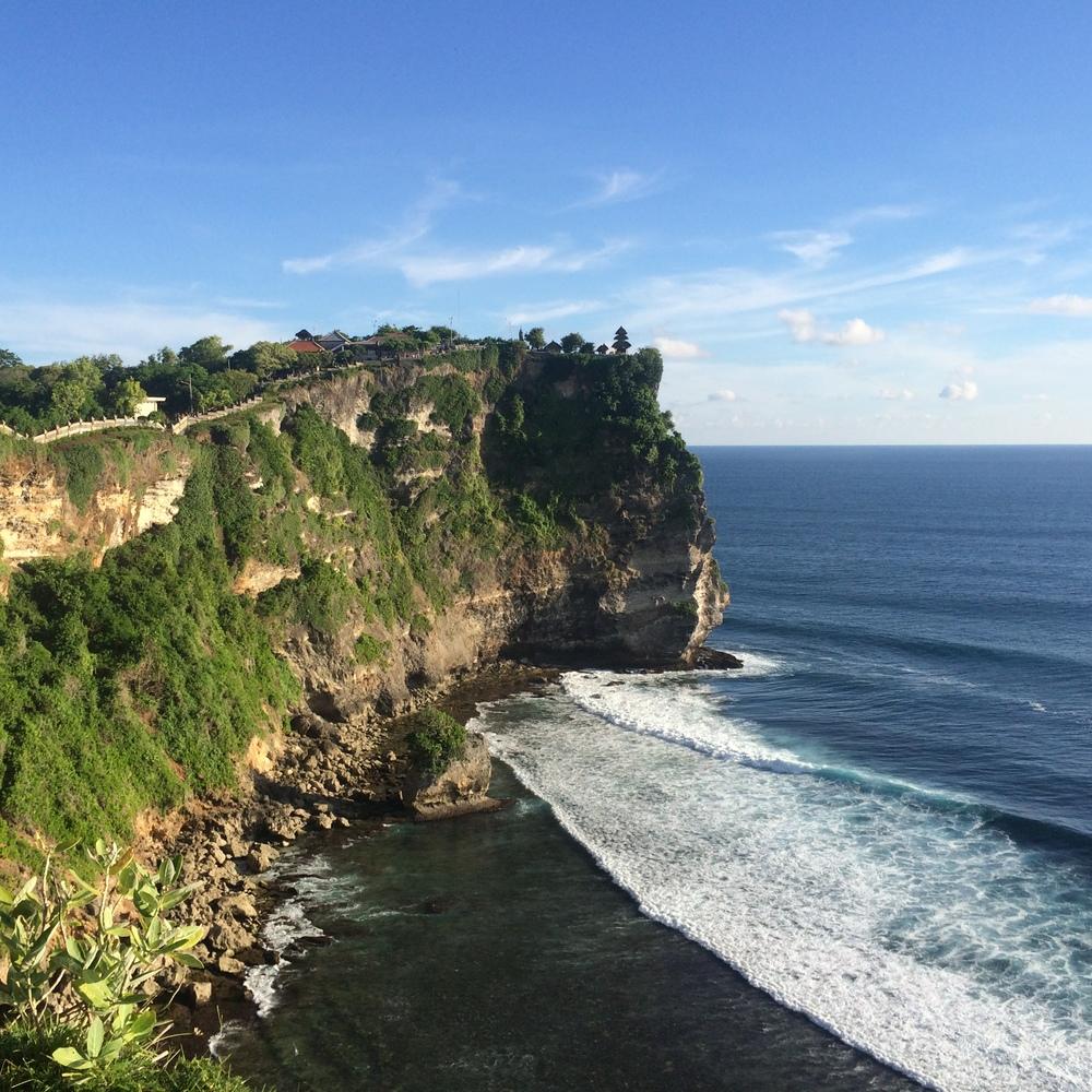 Cliffs at Uluwatu Temple.