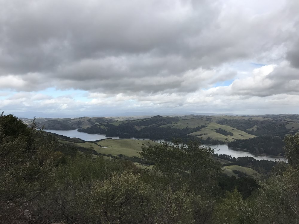 Views to the East of San Pablo Resevoir from Seaview Trail.
