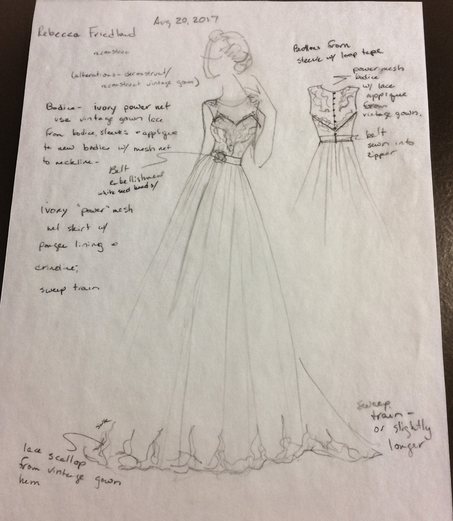 Original dress design.