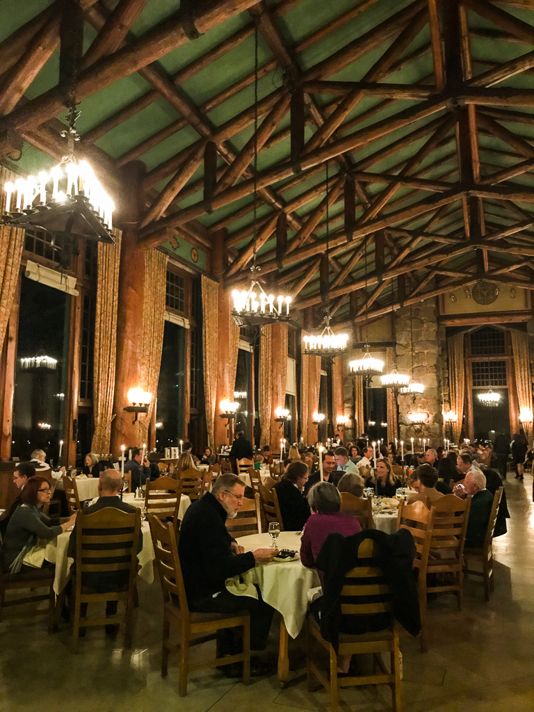 Dinner at the Majestic Yosemite Hotel.
