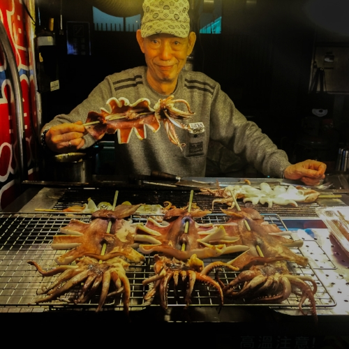 Delicacies at the night market.