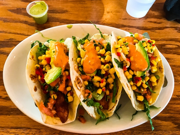Tacos at El Arepazo Latin Grill