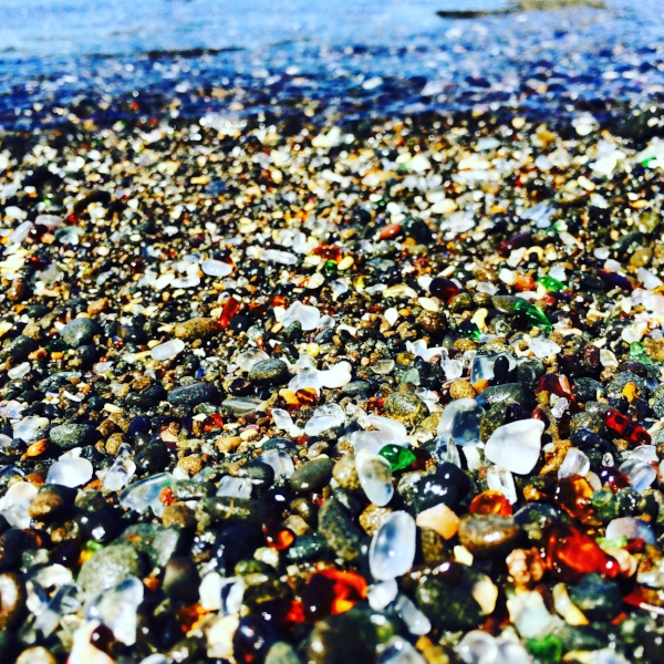 The glass beach in Fort Bragg.
