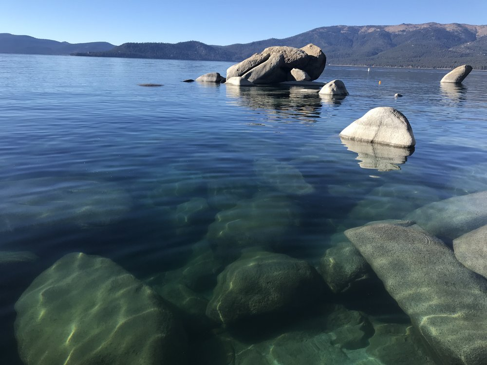 The crystal clear waters of Sand Harbor.