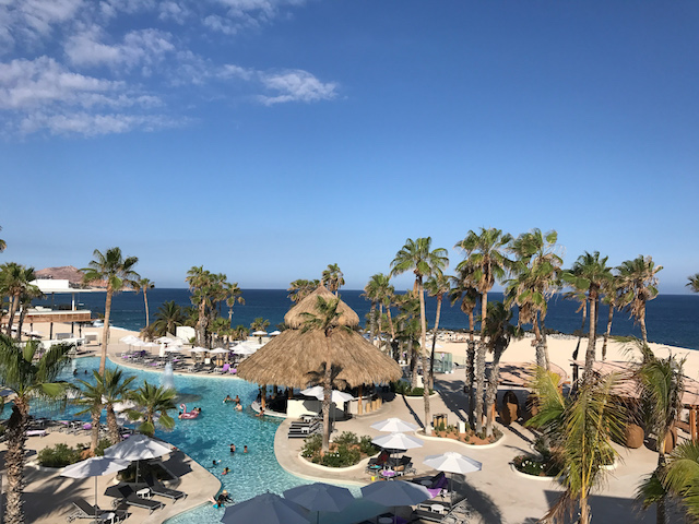 Oceanview rooms overlooking the pool and Sea of Cortez beyond.