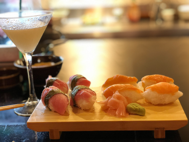 Sushi and drinks are included in the all-inclusive price.