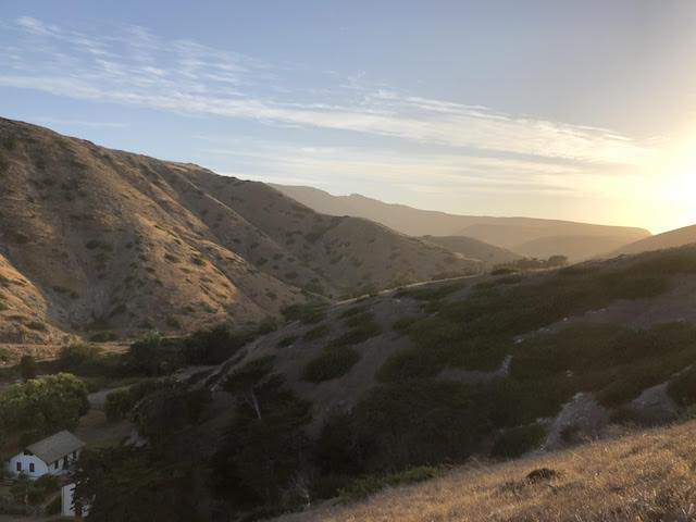 Rolling hills and setting sun on Santa Cruz Island. Add it to your bucket list!