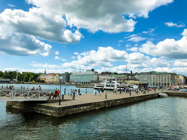 Waterfront along the Baltic Sea.