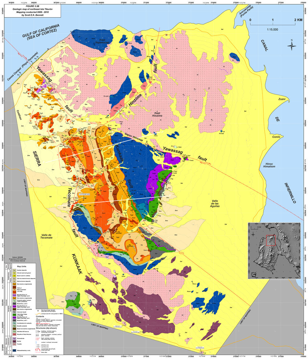 Bennett_Supplemental Figure 3-3B_NE Isla Tiburon geol map.png