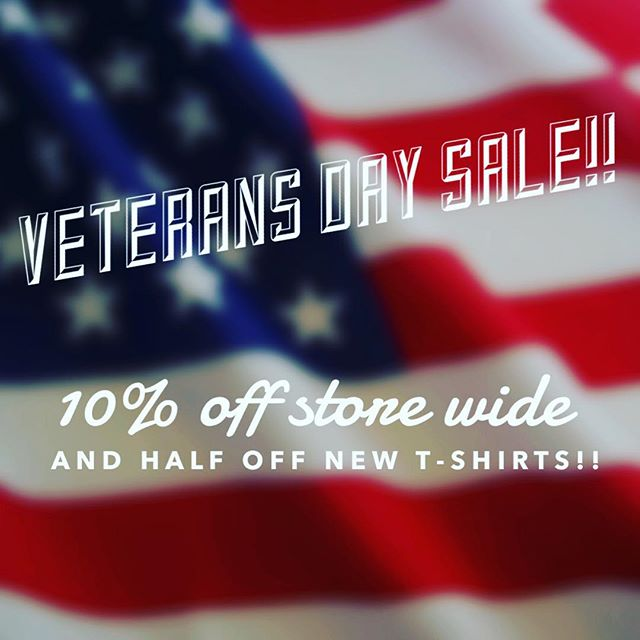 This SATURDAY AND SUNDAY. We are closed Monday in honor of the holiday. Thank you to our veterans!!