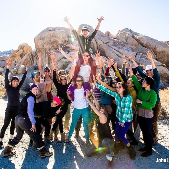 Stoke is high as we gear up for our 5th Annual AcroRocks New Years retreat in Joshua Tree National Park. Can't wait for the amazing group of humans that will gather to connect, inspire each other and co-create some magic in the desert! #jtree #acrorocks #newyearsretreat #community #getoutthere ✌️🤘📸 @johnnyroadtrip