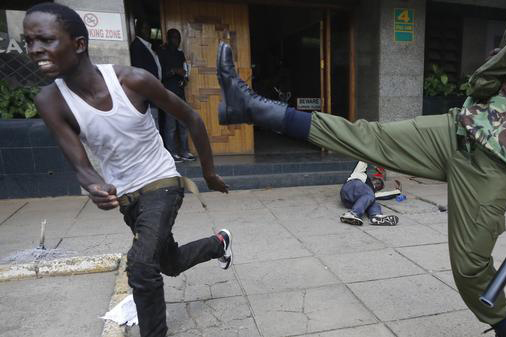 video of police brutally beating protester shocks kenya | vice news