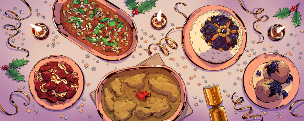 Alternative Christmas feast, for VICE munchies