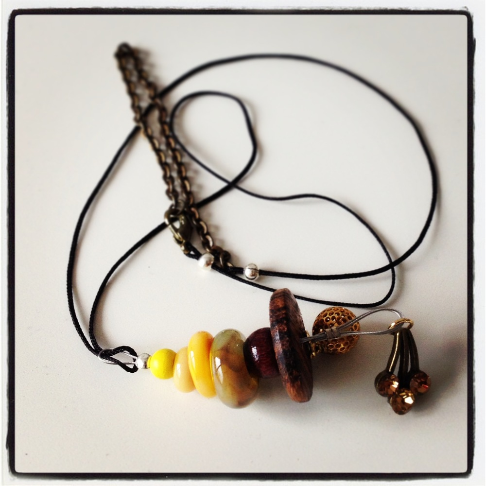 "Necklace ""Autumn""_Glassbead Collection"