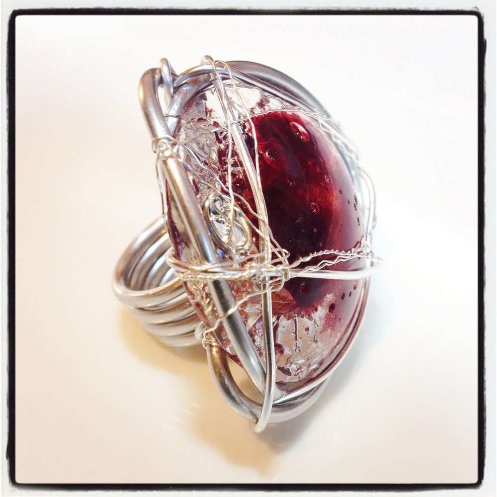 "Ring ""Wire & Resin"""