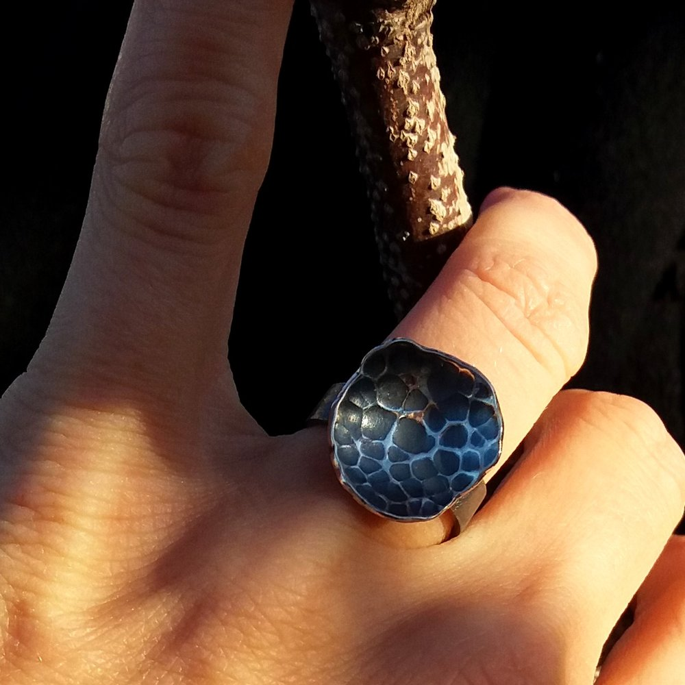 "Ring ""Tree Bark"""