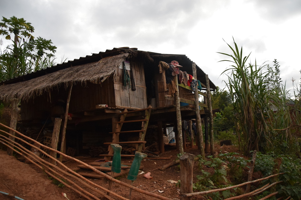 Kyseinen bambumaja on Yingwitin naapuri perheen koti.