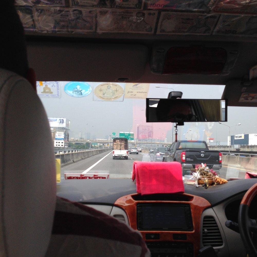 Ensihetkiä perillä Bangkokissa.
