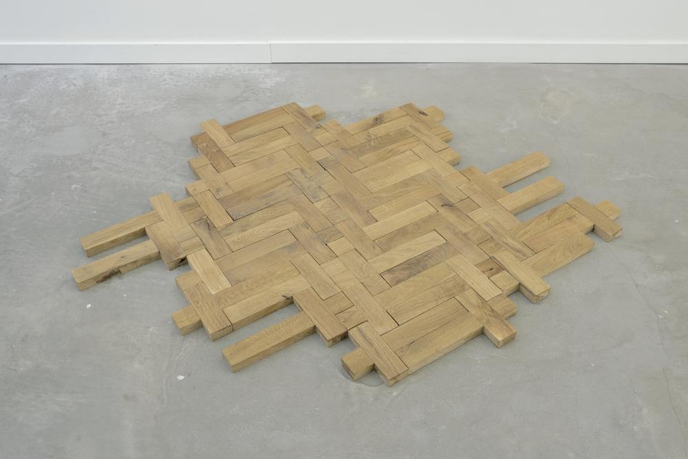 The Aberration of Light 38, 2015 - handmade oak crosses -1.30x1.20m
