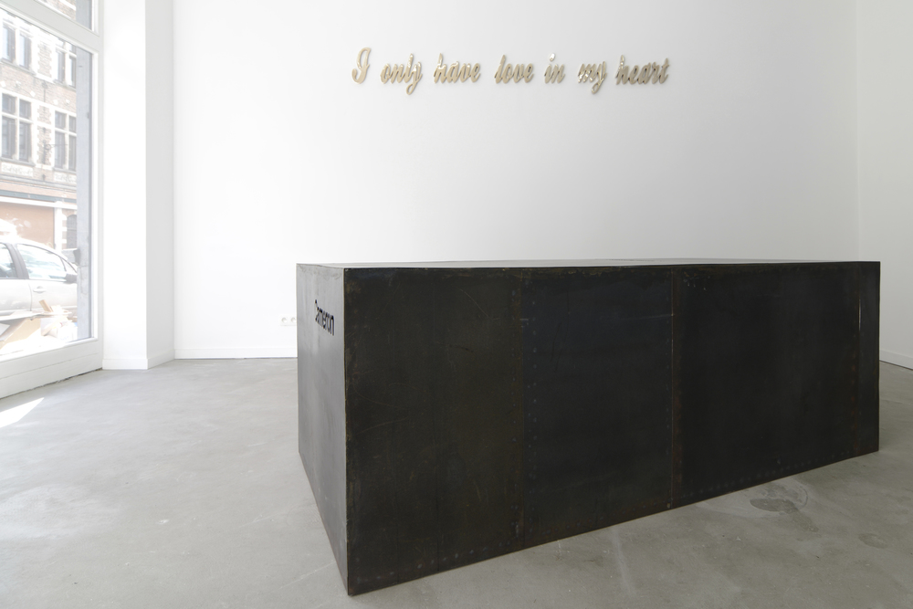 Near Death Experience / I only have love in my heart, 2011 - last utterances of death row inmates, polished bronze, app. 2.60x0.50m