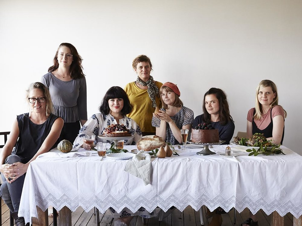 A little behind the scenes shot of some of the amazing team who put Ostro together! L-R: Armelle Habib (Photography), Stephanie Rooney (Photography Assistant), Me :), Emma Warren-Rodriguez (My amazing food assistant/right hand woman in the kitchen), Michelle Mackintosh (Book design), Karina Duncan (Stylist), Clare Marshall (Editor). Missing, my amazing publisher Mary Small and Publicity Manager Charlotte Ree. GIRL POWER!!