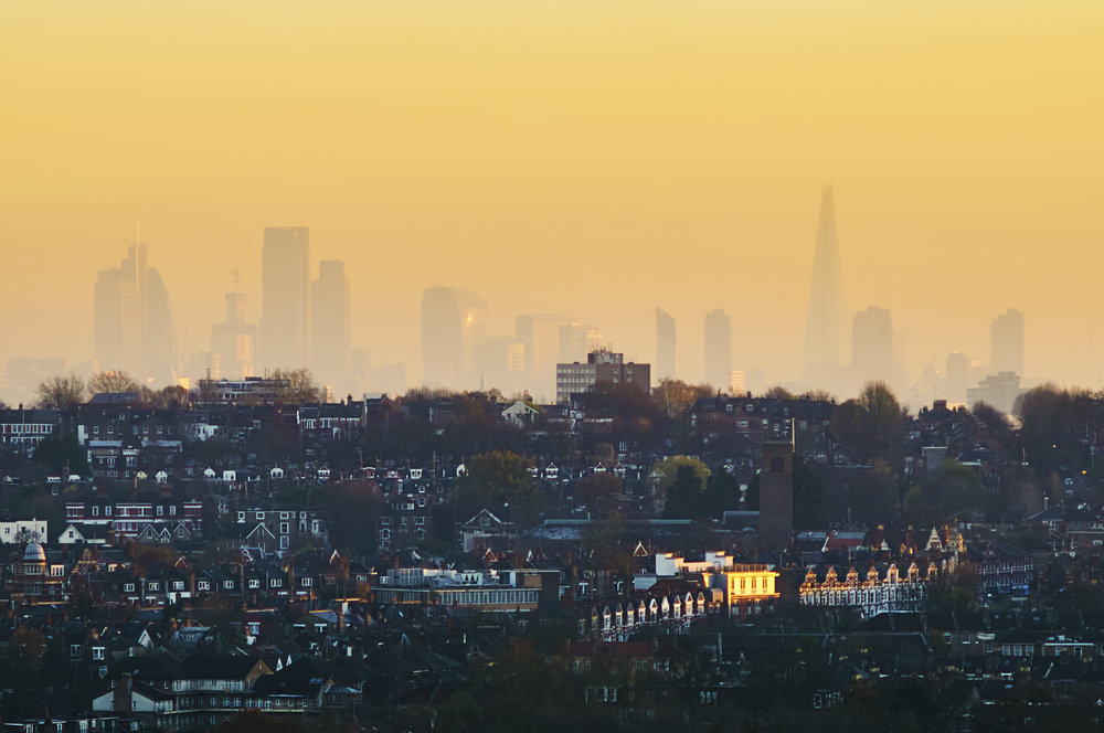 City of London from Alexandra Palace