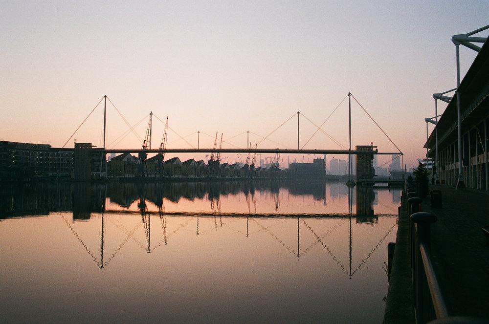 Royal Victoria Bridge at dusk