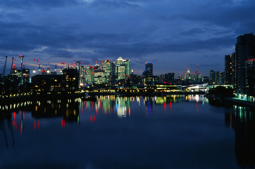 Isle of Dogs and Canary Wharf, East London