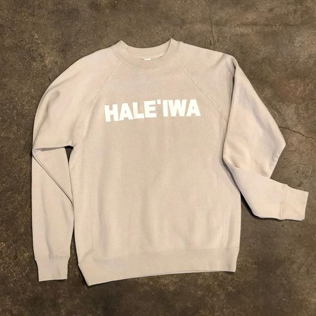 New Hale'iwa Sweatshirt. Soft & Simple. Available in store in sizes XS-XXL 🤙🏼